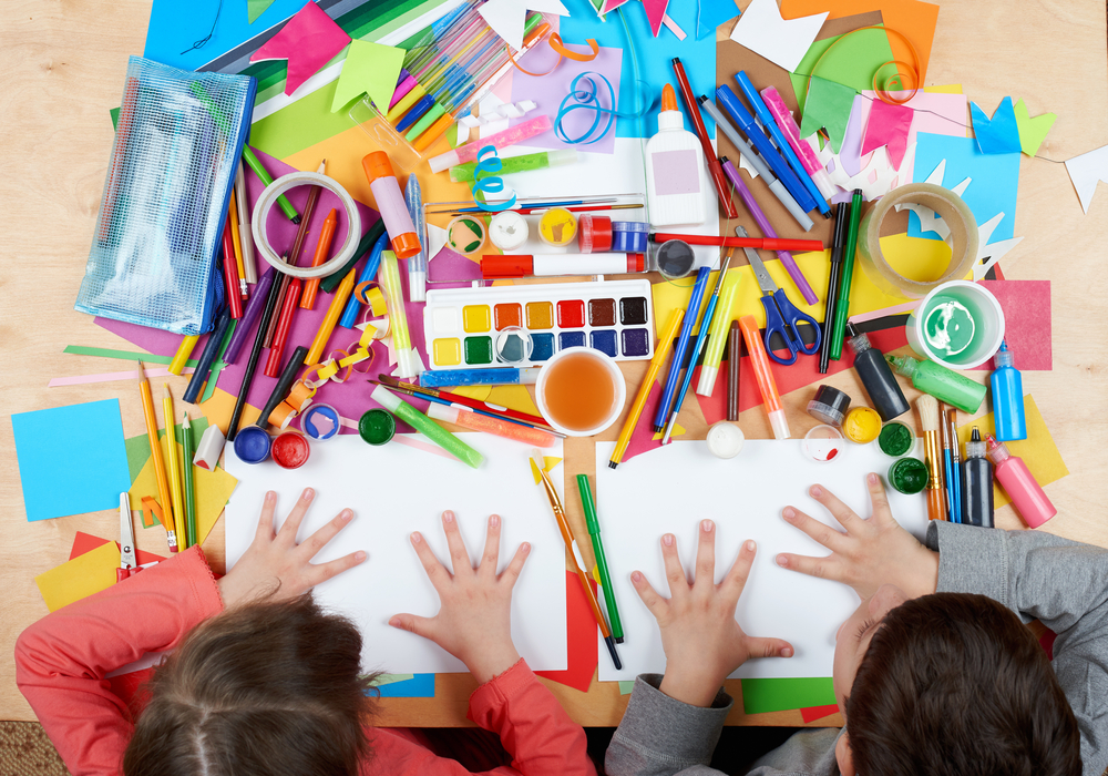 Picture of crafting with kids